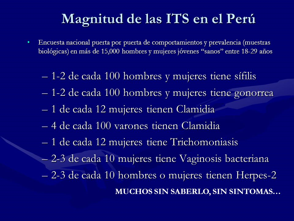 Magnitud de las ITS en el Perú
