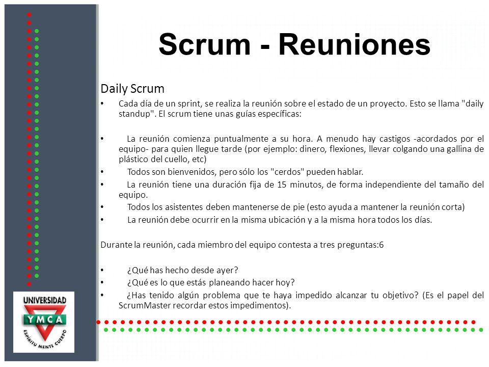 Scrum - Reuniones Daily Scrum