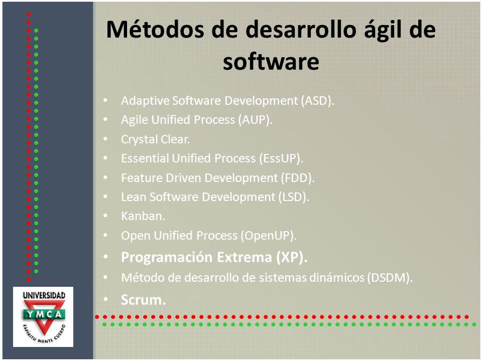 Métodos de desarrollo ágil de software
