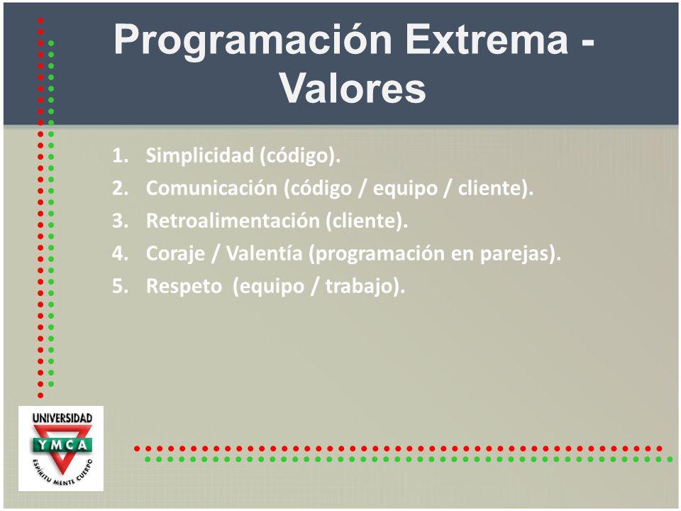 Programación Extrema - Valores