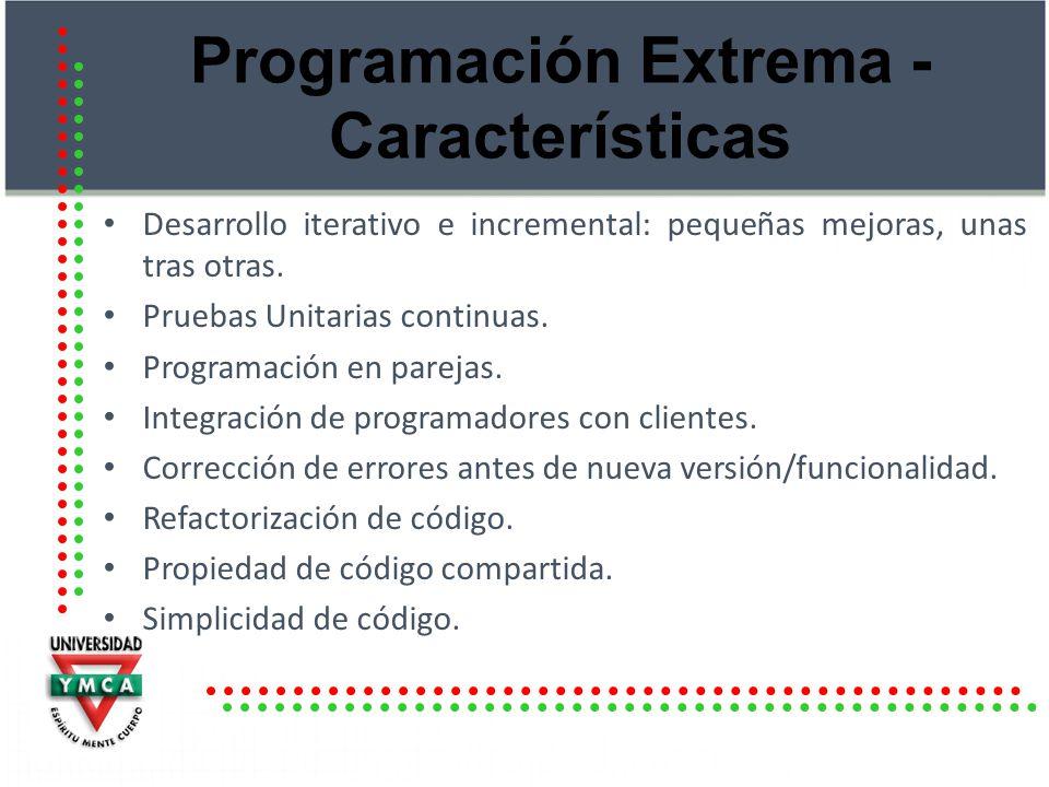Programación Extrema - Características