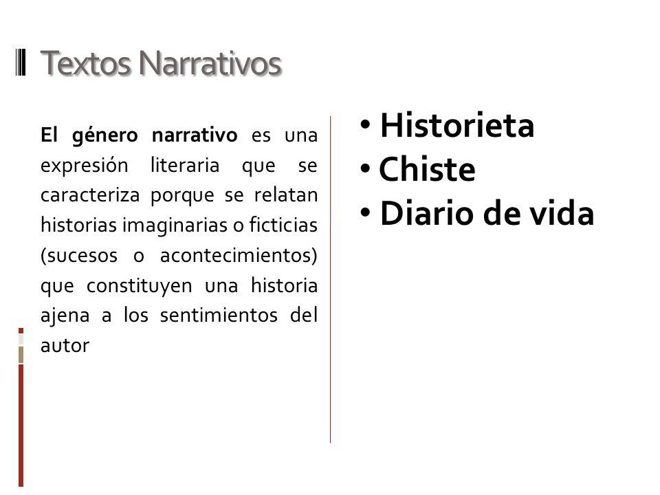 Textos Narrativos Historieta Chiste Diario de vida