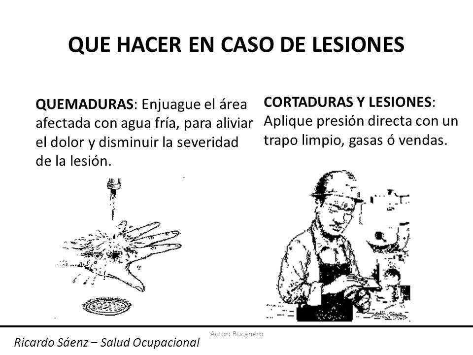 QUE HACER EN CASO DE LESIONES
