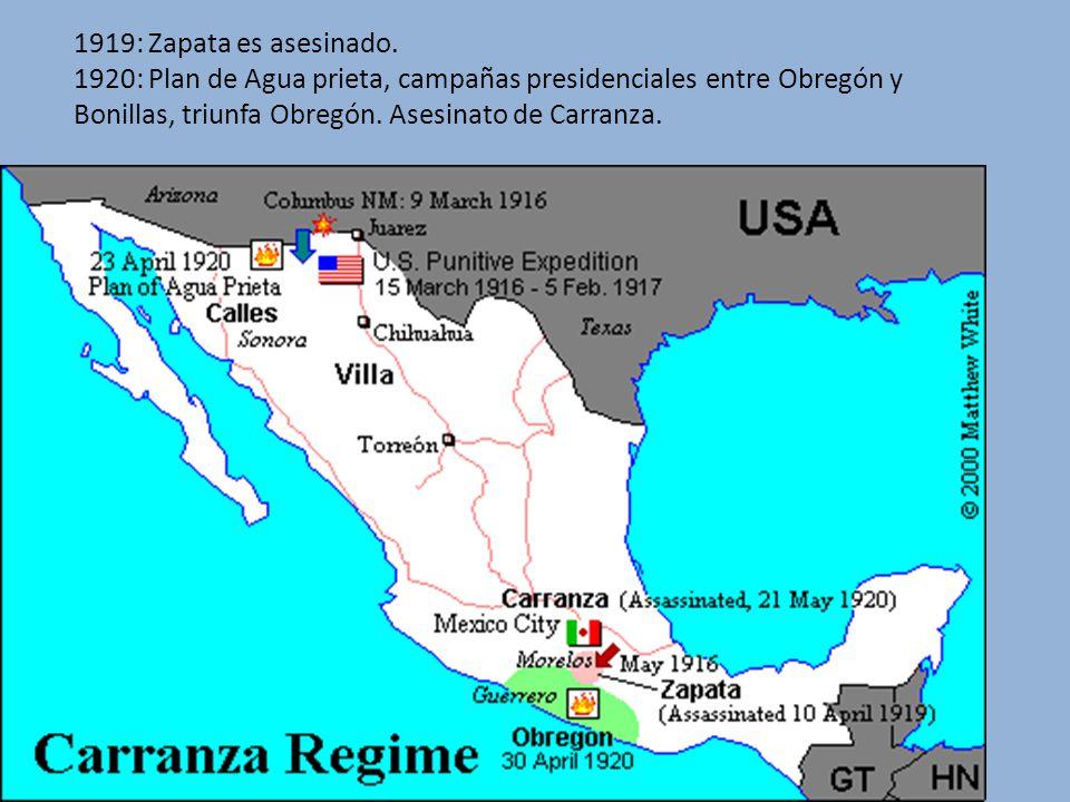 1919: Zapata es asesinado.