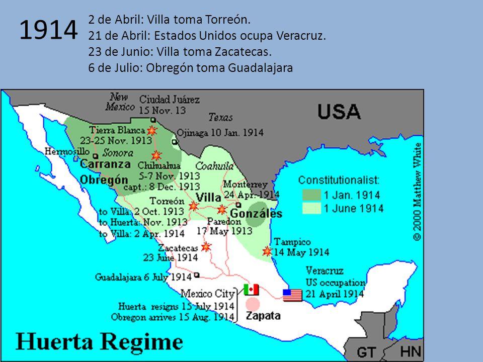 1914 2 de Abril: Villa toma Torreón.