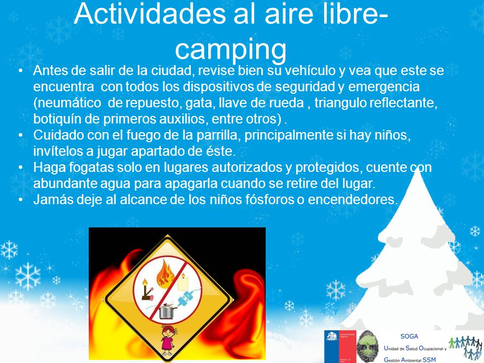 Actividades al aire libre-camping