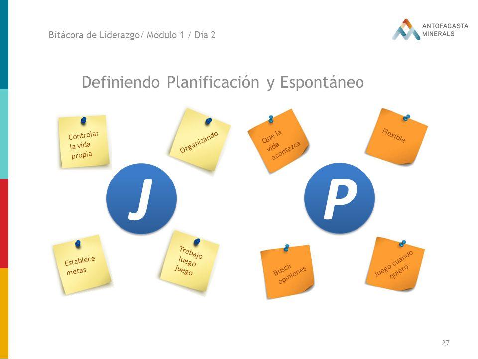 J P Definiendo Planificación y Espontáneo