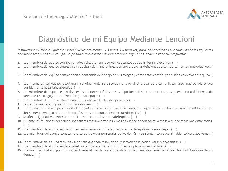 Diagnóstico de mi Equipo Mediante Lencioni
