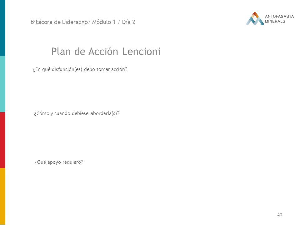 Plan de Acción Lencioni