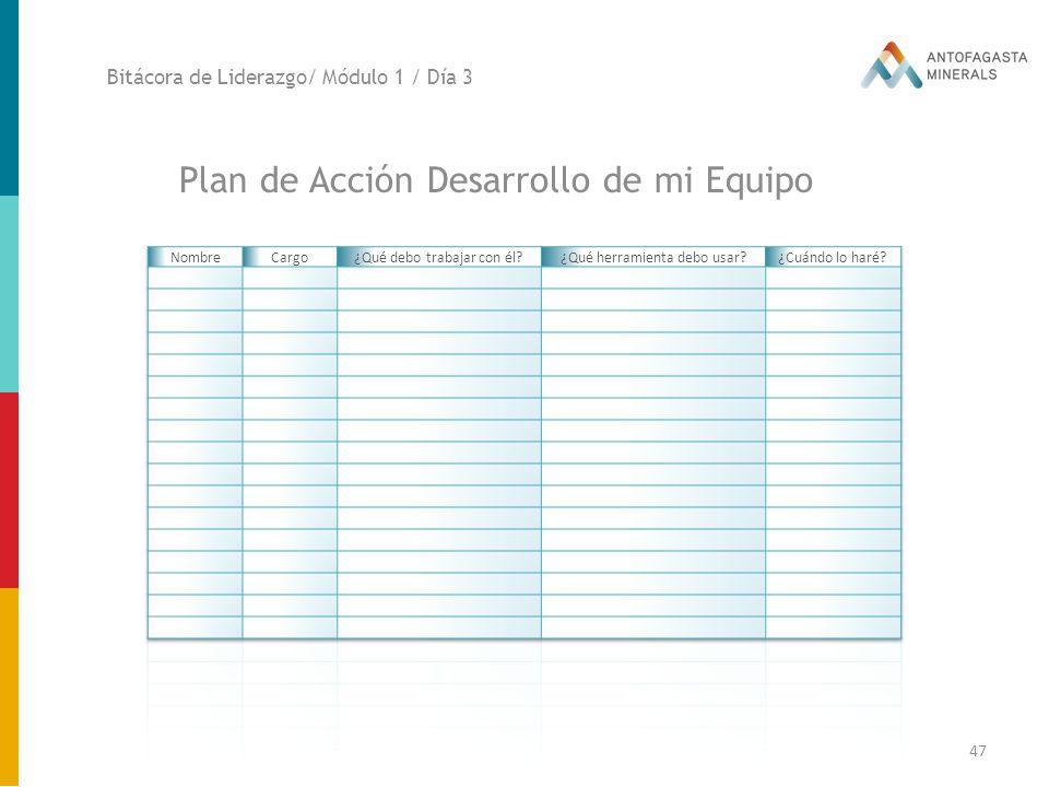 Plan de Acción Desarrollo de mi Equipo