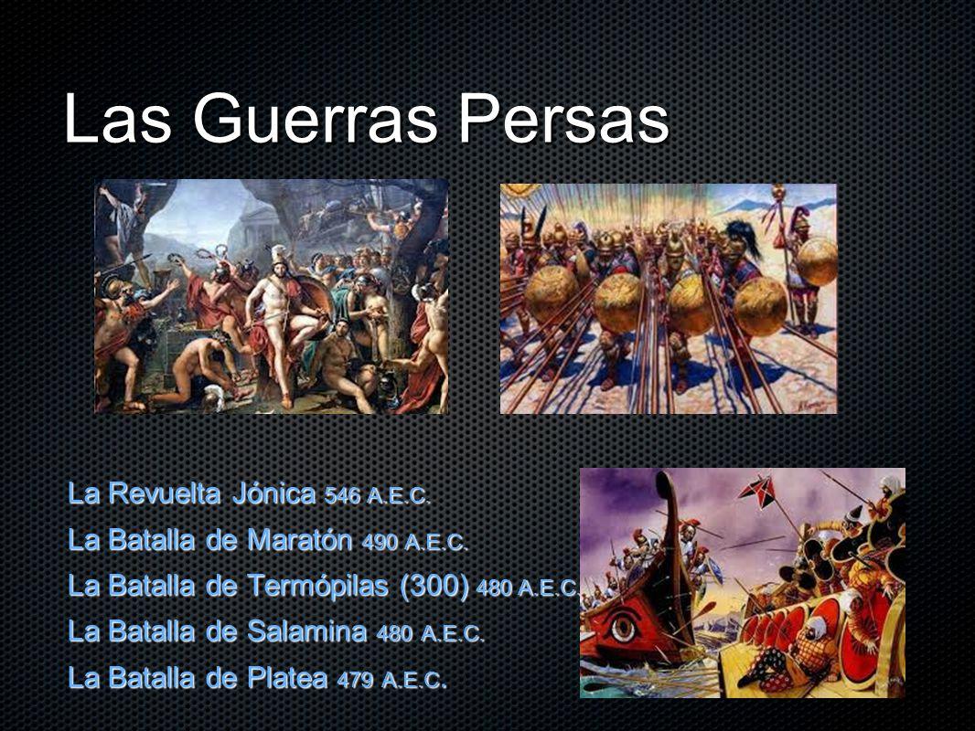 Las Guerras Persas La Revuelta Jónica 546 A.E.C.