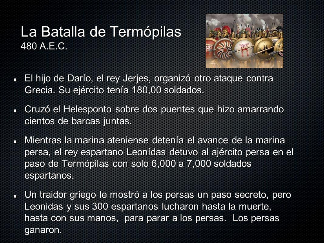 La Batalla de Termópilas 480 A.E.C.