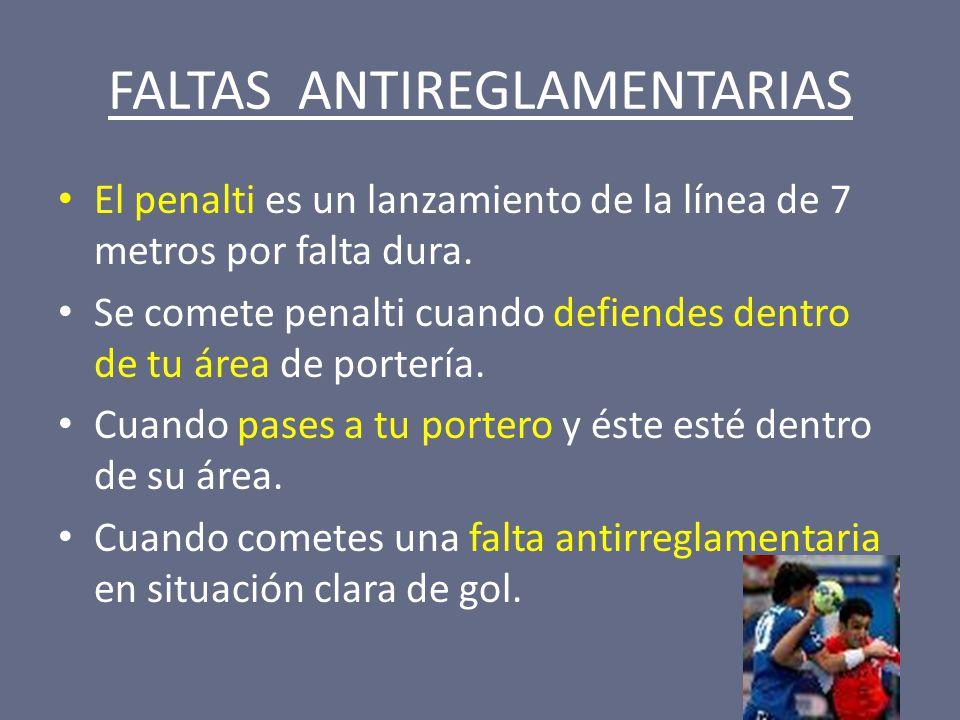FALTAS ANTIREGLAMENTARIAS