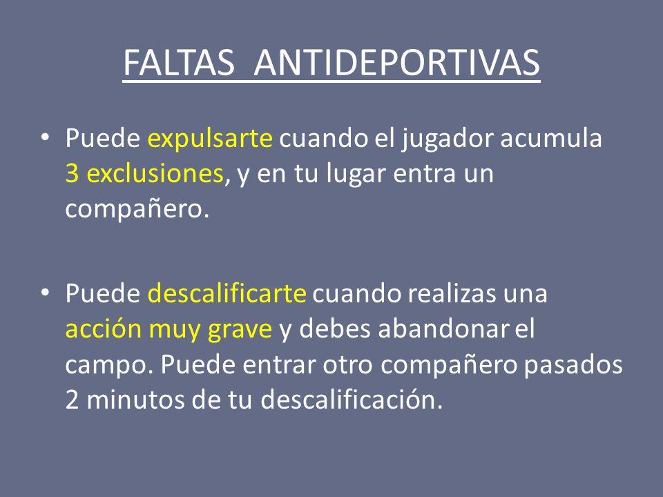 FALTAS ANTIDEPORTIVAS