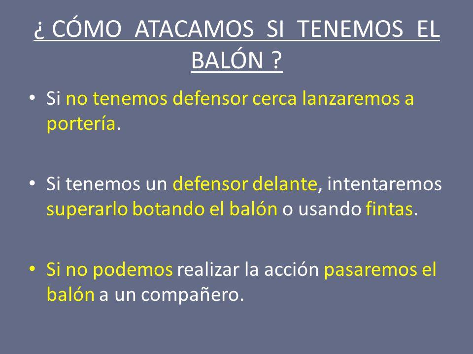 ¿ CÓMO ATACAMOS SI TENEMOS EL BALÓN