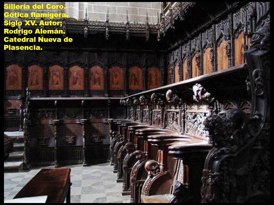 Sillería del Coro. Gótica flamígera. Siglo XV. Autor; Rodrigo Alemán