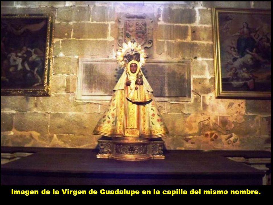 Imagen de la Virgen de Guadalupe en la capilla del mismo nombre.