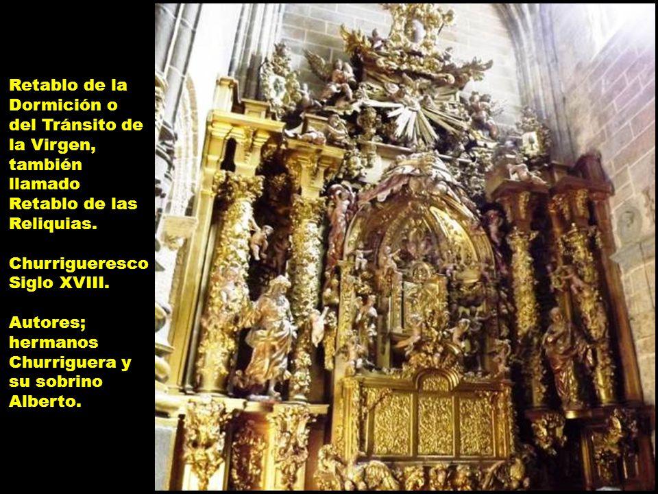 Retablo de la Dormición o del Tránsito de la Virgen, también llamado Retablo de las Reliquias.