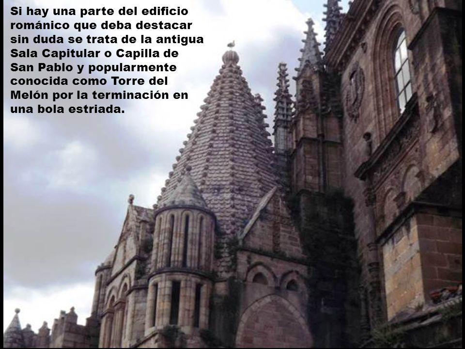 Si hay una parte del edificio románico que deba destacar sin duda se trata de la antigua Sala Capitular o Capilla de San Pablo y popularmente conocida como Torre del Melón por la terminación en una bola estriada.