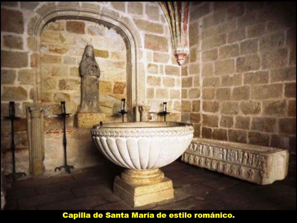 Capilla de Santa María de estilo románico.