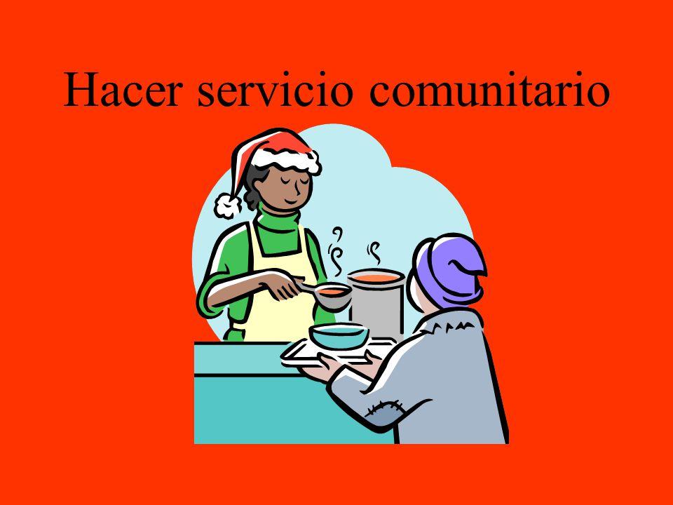 Hacer servicio comunitario