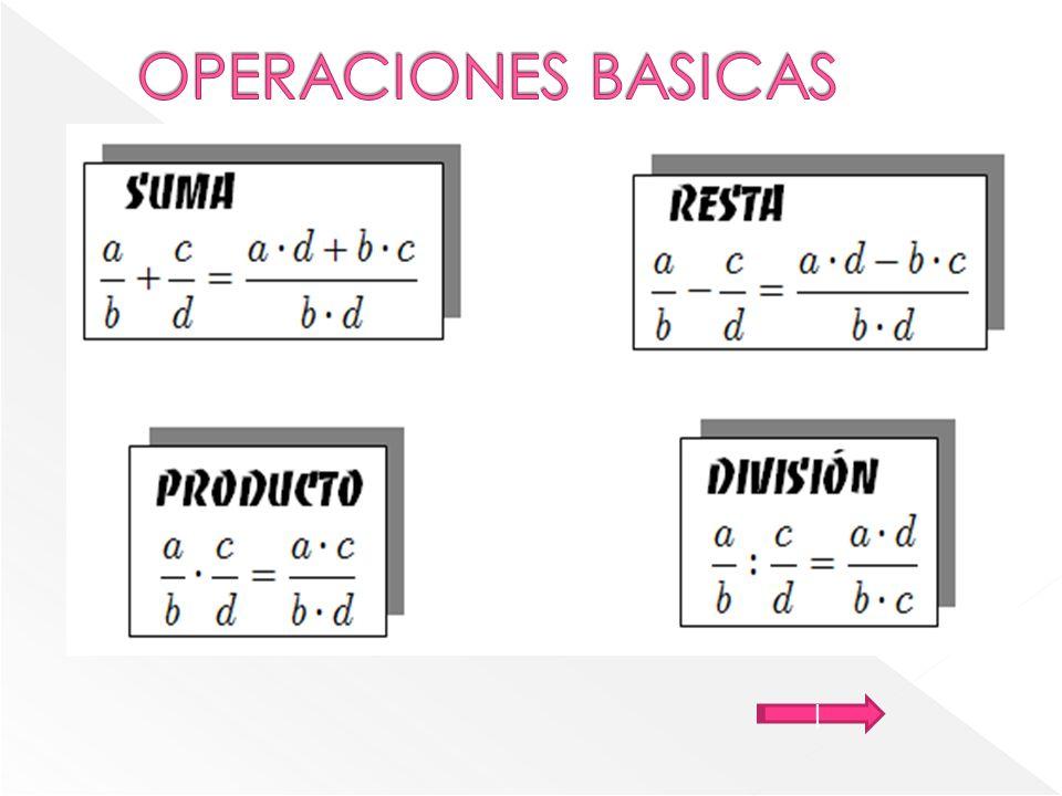 OPERACIONES BASICAS |