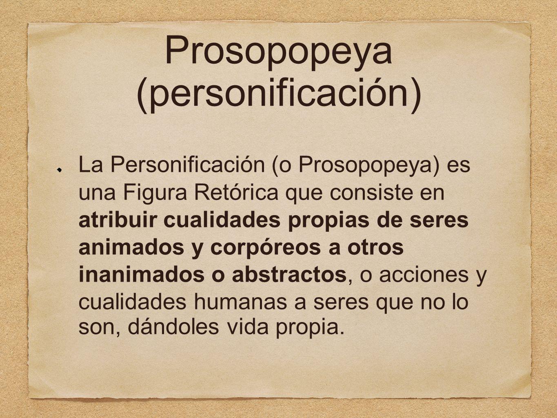 Prosopopeya (personificación)