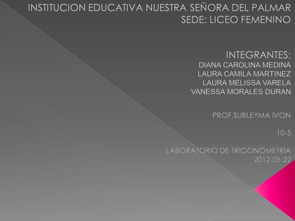 INSTITUCION EDUCATIVA NUESTRA SEÑORA DEL PALMAR SEDE: LICEO FEMENINO
