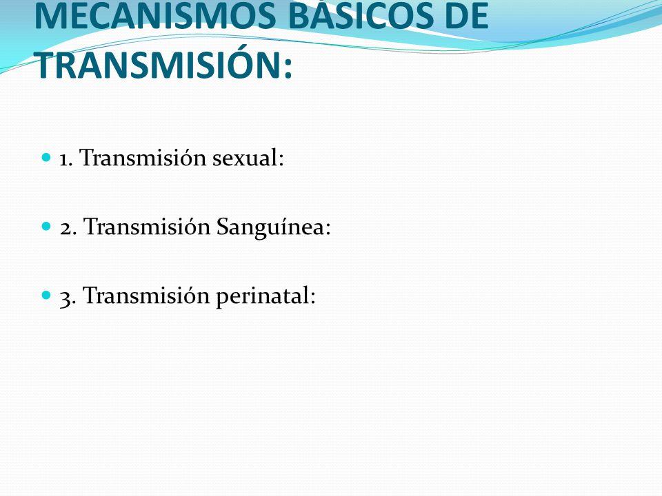MECANISMOS BÁSICOS DE TRANSMISIÓN: