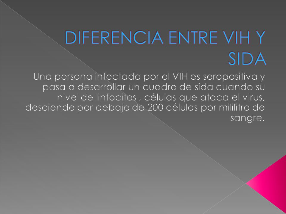 DIFERENCIA ENTRE VIH Y SIDA
