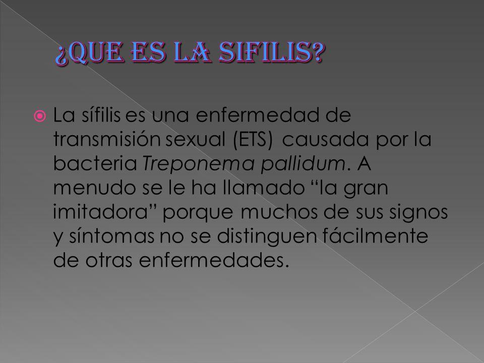 ¿QUE ES LA SIFILIS
