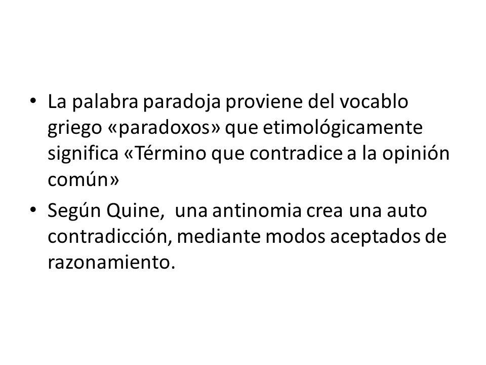 Los tres tipos de paradojas ppt video online descargar for De que lengua proviene la palabra jardin