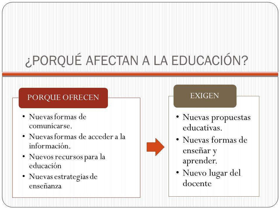 ¿PORQUÉ AFECTAN A LA EDUCACIÓN