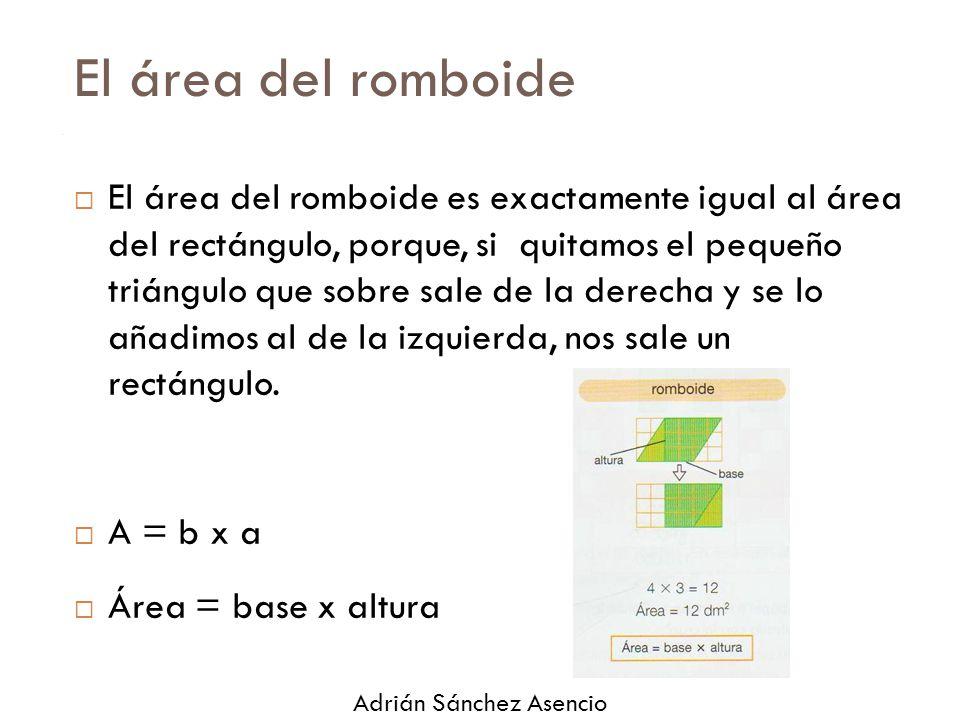 El área del romboide
