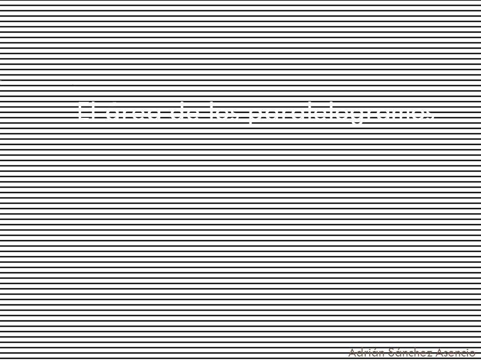 El área de los paralelogramos