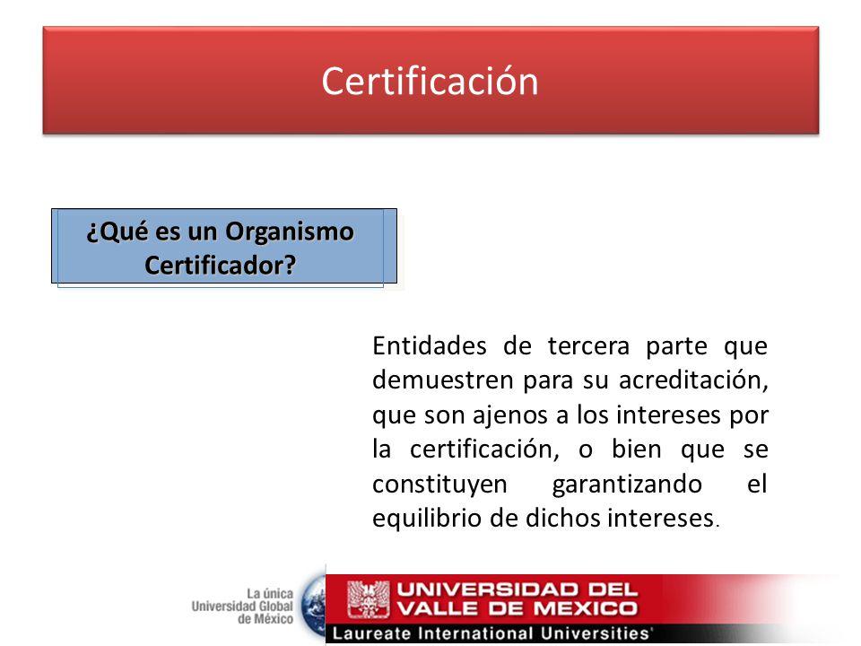 ¿Qué es un Organismo Certificador