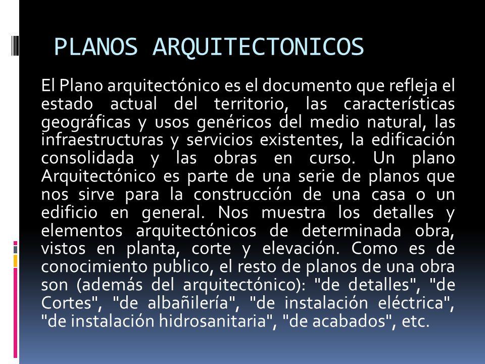 Dibujo arquitectonico arq indira alfaro guti rrez ppt for Elementos de un plano arquitectonico