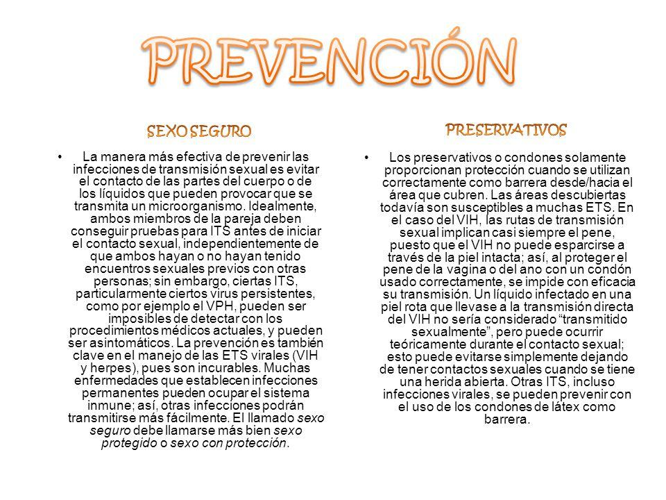 PREVENCIÓN SEXO SEGURO PRESERVATIVOS