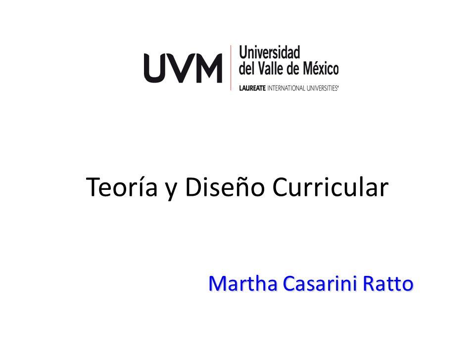 Teoría y Diseño Curricular