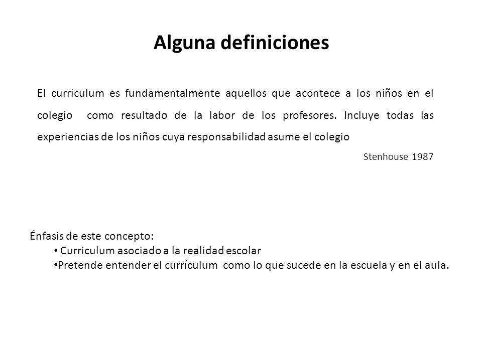 Alguna definiciones