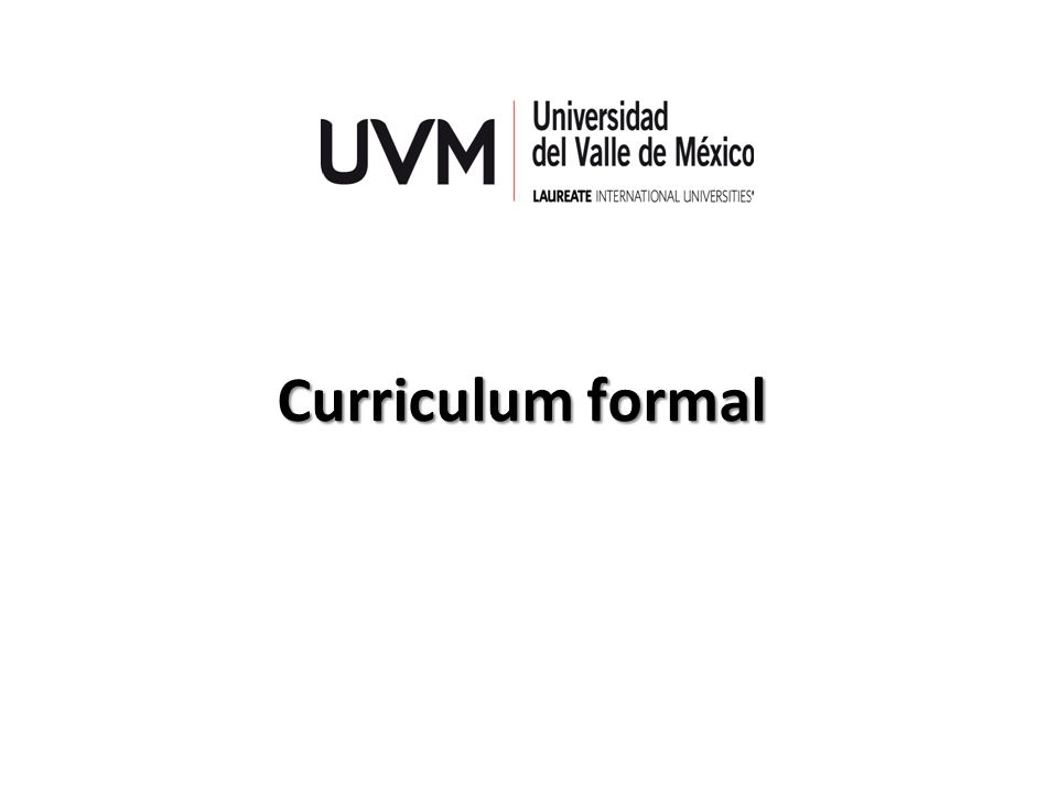 Curriculum formal
