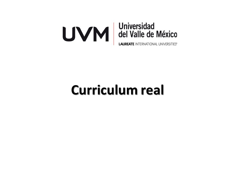 Curriculum real
