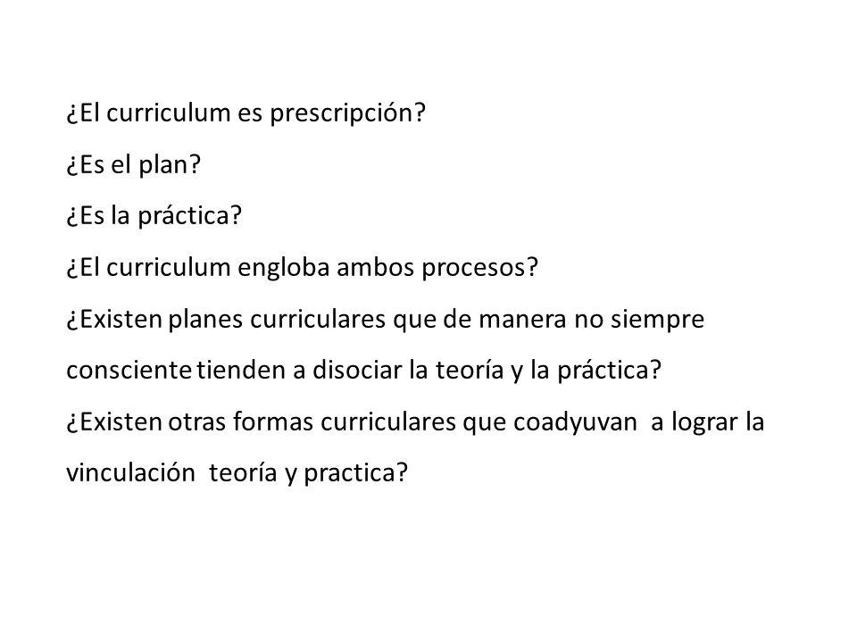¿El curriculum es prescripción