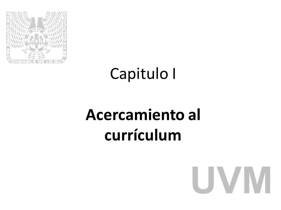 Capitulo I Acercamiento al currículum