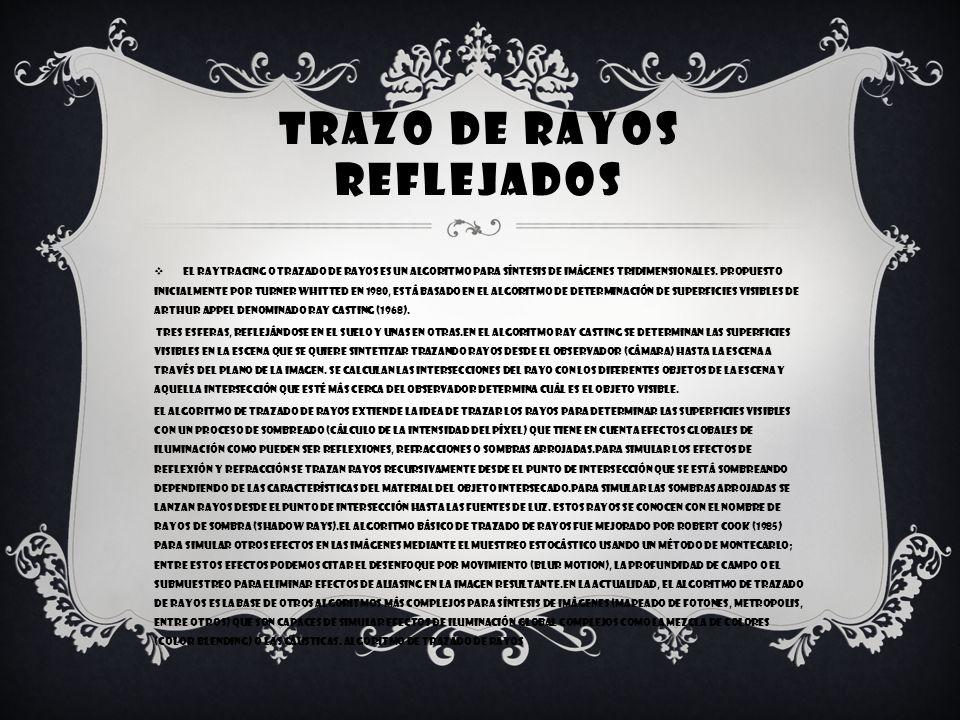 TRAZO DE RAYOS REFLEJADOS