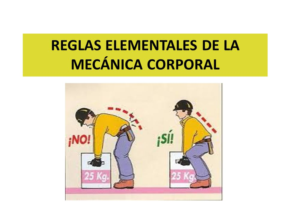 REGLAS ELEMENTALES DE LA MECÁNICA CORPORAL