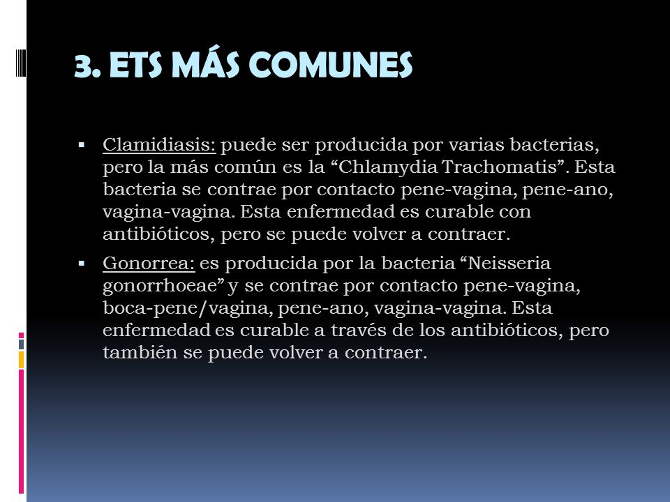 3. ETS MÁS COMUNES