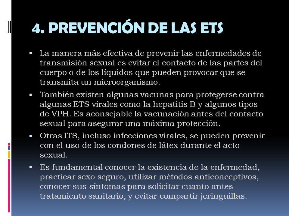 4. PREVENCIÓN DE LAS ETS