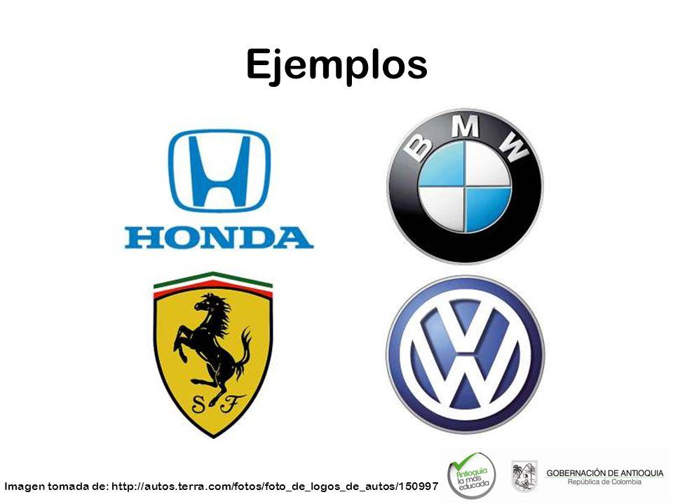 Ejemplos Imagen tomada de: http://autos.terra.com/fotos/foto_de_logos_de_autos/150997