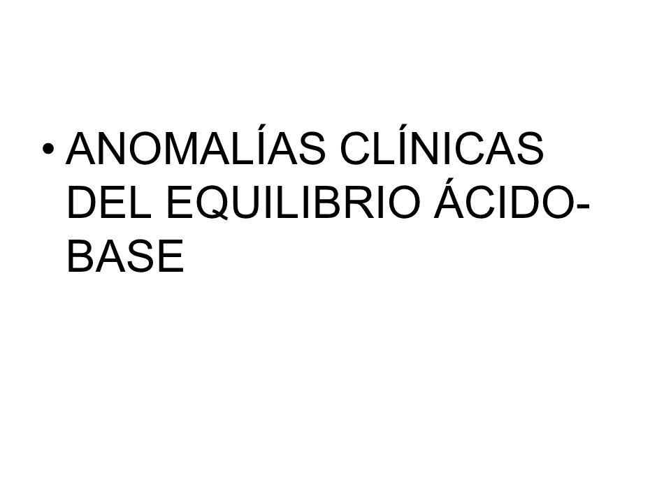ANOMALÍAS CLÍNICAS DEL EQUILIBRIO ÁCIDO-BASE